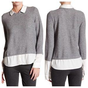 Joie Thevenette Faux Wool Shirt Sweater